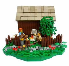 (1) - The Eviction Notice (.Bricko) Tags: mountains tree barn vermont allen lego farm ethan vignette musket