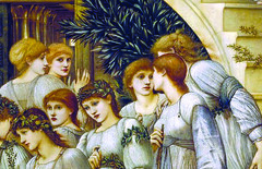 Burne-Jones, The Golden Stairs, detail with women below (close)