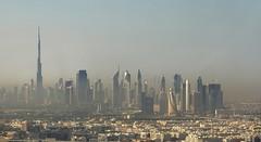 Dubai, Panorama - Skyline (blafond) Tags: city urban panorama skyline smog dubai skyscrapers towers pollution metropolis tours ville brume metropole cite gratteciels
