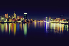Reflections (_flowtation) Tags: city blue light night reflections germany dark licht nikon downtown hessen skyscrapers nacht frankfurt main ambulance lighttrails blau banks westhafen westhafentower museumsufer frankfurtammain bluelight commerzbank rettungswagen mainriver lightstreaks maintower banken ezb unionbank mainufer apfelwein spiegelungen ebbelwoi europeancentralbank blaulicht commerzbanktower geripptes downtownfrankfurt nikon2470mm nikon2470mmf28 d7000 nikond7000 museumsuferfrankfurt darknesslighttrails neweuropeancentralbank