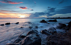 Sengigi Point Sunset, Lombok Indonesia. (jeffiebrown) Tags: blue sunset indonesia hour lombok mataram jeffiebrown hitechfilters sengigibeach
