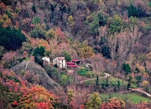 Lontano da tutti... (rospex) parco alberi strada autunno colori paese villaggio sibillini