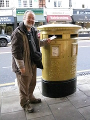 IMG_4474 (Steve Guess) Tags: uk london gold post box pillar gb wimbledon worpleroad