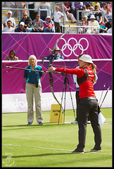 Carina Christiansen ( Hammer Head ) Tags: uk london sport denmark carina bow string arrow archery olympics mcc lords christiansen olympicgames lordscricketground quiver london2012 stjohnswood recurve canonef70200mmf28lusm marylebonecricketclub eos40d thomaslord