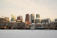 The Hague in the snow. (Lovando) Tags: winter snow de sneeuw den hague haag plein the