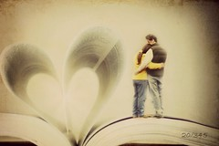 Our Love Story (~ Life As I See it ~) Tags: b texture love home me book couple heart odc hss odc2 ourdailychallenge slidersunday