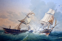 CU456 Battle at Sea (listentoreason) Tags: usa art philadelphia museum america canon painting unitedstates pennsylvania favorites places pennslanding ef28135mmf3556isusm score30 independenceseaportmuseum philadelphiamaritimemuseum