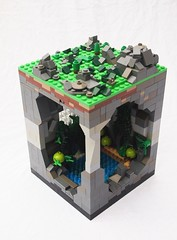 A Journey to the Center of the Earth. (Mark of Falworth) Tags: underground lego scene journey scifi cave moc