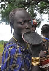 Mursi Tribe, Lip Plate (Rod Waddington) Tags: africa traditional plate tribal valley omovalley lip ethiopia tribe mursi ethiopian omo jinka
