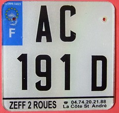 FRANCE 2000's ---MOPED LICENSE PLATE (woody1778a) Tags: world auto canada france cars car bike sign vintage europa edmonton photos tag woody plate tags licenseplate collection number photographs license plates foreign moped numberplate licenseplates numberplates licenses cartag carplate carplates autotags cartags autotag foreigns pl8s worldplates worldplate foreignplates platetag