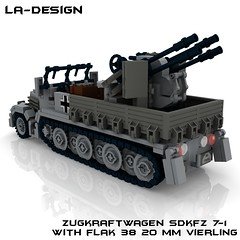 LEGO Custom WW2 SdKfz 7-1 Flak 38 3 (LA-Design2012) Tags: 1 tank lego wwii 7 ww2 vehicle instructions pdf custom xml armored flak 38 moc sdkfz bauanleitung ladesign flakvierling