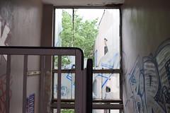Staircase interior view (baurichter) Tags: berlin monument concrete plattenbau ddr derelict gdr urbanexploring urbex wollenbergerstrasse