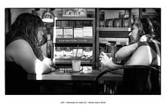 Intensity in Cafe #2 (Godfrey DiGiorgi) Tags: bw cafe people street urban santaclara california usa us