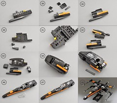 T-70 X wing Instructions (4) (Inthert) Tags: lego moc star wars t70 ship instructions resistance x wing bb8 poe force awakens