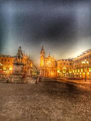 Piazza San Carlo, Turin. (martinabarral) Tags: beatiful home bynight piazzasancarlo hdr iphone light turin italy