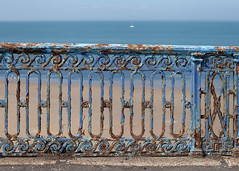 Colours of Margate...(Explored - thanks!) (Lady Haddon) Tags: explore margate kent seaside blue texture fence