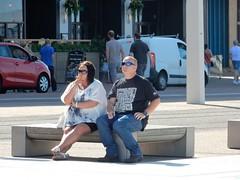 Thoughtful (deltrems) Tags: people men women blackpool promenade lancashire fylde coast smoker smoking woman