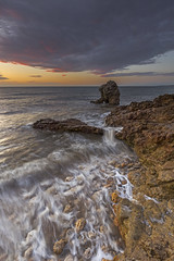 Shot Rock - 'Retreat' (mattwalkerncl) Tags: canon eos 6d fullframe landscape seascape uk england summer sunrise colour water movement lee manfrotto filter