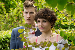DSC07171 (Kit Carruthers) Tags: 2016 edinburgh july peachy royalbotanicgardens samyang85mmf14 sonya7ii couple model modelling portrait summer