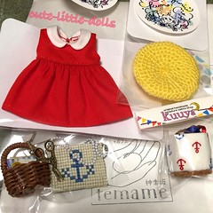 My loots from temame (cute-little-dolls) Tags: handmade loot tops beret bag miniature