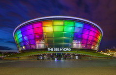 The SSE Hydro Rapid Blend If (JRE313) Tags: glasgow night hdr landscape sse hydro europe scotland united kingdom uk falkirk colors blue hour twighlight clouds boxing building rapid blend if exposures