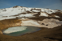 Krafla Viti Crater 20 (sarahmonious) Tags: kraflaviticrater kraftla viti myvatn kraftlavolcano volcanocrater crater hverir snow route1iceland route1 ringroad iceland iceland2016 icelanding2016 traveling