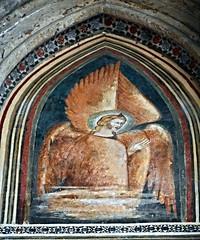 Angel Cherub - fresco 14th century - San Lorenzo Maggiore Church in Naples (Carlo Raso) Tags: angel cherub fresco naples italy