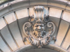 Satyr Gargoyles - The Ansonia Apartment Building 3975 (Brechtbug) Tags: satyr gargoyles the ansonia apartment building now condo upper west side new york city 2109 broadway between 73rd 74th streets built 1899 opened 1904 beaux arts architectural style mansard roof architect paul e m duboy featured 1992 film single white female bridget fonda jennifer jason leigh home pogo cartoonist disney animator walt kelly mobster arnold rothstein athletes jack dempsey babe ruth 8222016 nyc 2016