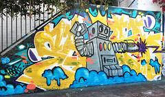 Zzzaaappp! (wiredforlego) Tags: graffiti streetart urbanart illegalart mural losangeles california lax robot