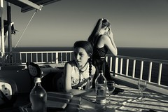 Chiara e Marta (alceccanti) Tags: chiaraemarta sassoscritto antignano livorno leghorn toscana tuscany italia italy biancoenero bw googlesiverefex sonyslta58 sonydt18250mm sonysti sonyphotographing estate2016