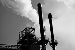 Industry (Harryk59) Tags: bw industry factory smoke chimney botlek