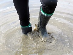 Archive (essex_mud_explorer) Tags: cebo black rubber wellington boots wellies wellingtons welly wellingtonboots rubberboots gummistiefel gumboots rainboots rubberlaarzen socks footballsocks water splashing splash fun paddling