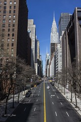 NYC April 2016 (LMJones Photo) Tags: 20160416nyc 0044a nyc newyorkcity april spring vanishingpoint perspective above walkway unitednations building tall skyscraper 20160413nyc newyork travel urban city april2016 firstvisit tourist canont3i