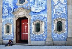Azulejo Ornament (csaba.lehel) Tags: azulejo blue church beggar porto portugal
