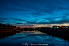 Birkenhead Docks Sunset (phat5toe) Tags: birkenhead docks water wirral sunset sky clouds longexposure nikon d300