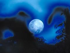 Setting Moon, Cwmbran 18 September 2016 (Cold War Warrior Follow Me on Ipernity) Tags: mon lunar digitalmanipulation