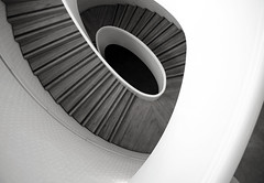 Newport Street Gallery Stair (shadow_in_the_water) Tags: newportstreetgallery damienhirst carusostjohn architecture stairs spiral staircase spiralstairs bw lambeth london se11