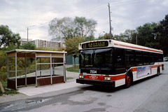 TTC 7334 D40 LF BUS BAYVIEW STEELES LOOP (bishop71701) Tags: ttc torontotransitcommission bus d40lf 7 7300 bayview steeles loop shelter route11 fall 2001