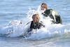 Mollie king The Saturdays enjoy a surfing lesson on Venice Beach. Los Angeles, California