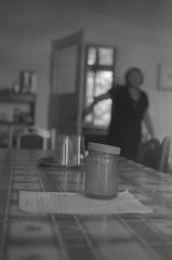 (_) Tags: blackandwhite kitchen table room jar