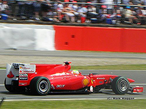 Felipe Massa in his Ferrari at the 2010 British Grand Prix