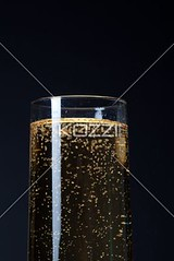 glass full of alcoholic drink (erinfood8877) Tags: party reflection glass closeup blackbackground photography wine drink toast champagne details beverage bubbles nobody nopeople newyear victory full celebration indoors ev