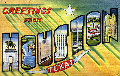 Greetings from Houston, Texas - Large Letter Postcard