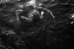 guardian angel (Vasilis Amir) Tags: sea blackandwhite motion reflection water girl moving experimental underwater doubleexposure dive surreal double transparency transparent vasilis  tsarnas mygearandme mygearandmepremium vasilisamir