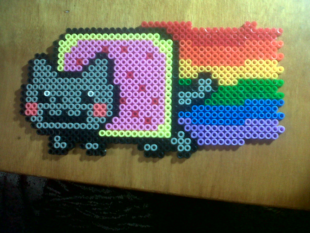 The world 39 s most recently posted photos of cat and hama - Hama beads cuadros ...