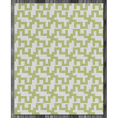 Maze Wool Rug in  Lime and Natural (on wood) (PURE Inspired Design) Tags: customfurniture organicfabric ecofriendlyfurniture woolrugs