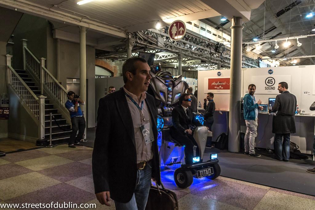 Web Summit Dublin 2012 - Titan The Robot Gatecrashes The Event
