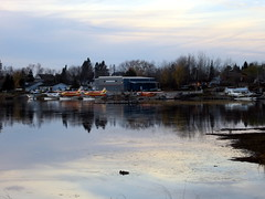 Pelican Lake air base (Tee Flemming) Tags: autumn sunset lake clouds october pelicanlake octobersunset siouxlookout
