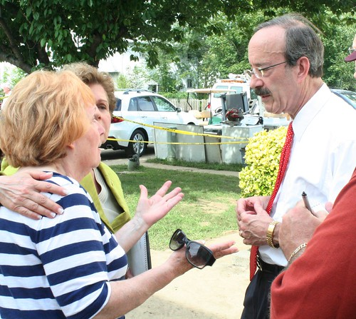 Rep. Engel tours flooding sites in district