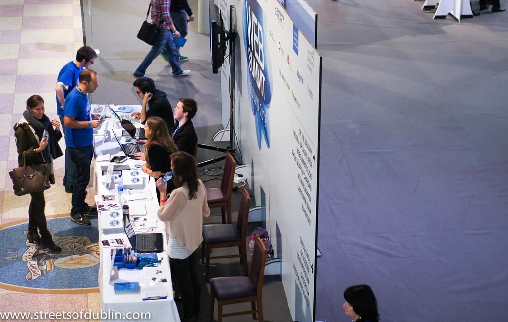 Entrance: Web Summit 2012 In Dublin (Ireland)